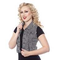 Sourpuss Stripe Vest - Cobalt Heights