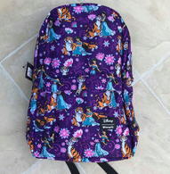 Loungefly X Disney Jasmine and Rajah Floral Tattoo Backpack - Cobalt Heights