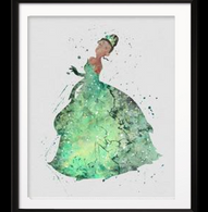 Watercolour Inspired The Princess And The Frog Print - Cobalt Heights