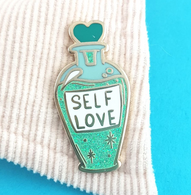 Jubly Umph Self Love Tonic Lapel Pin - Cobalt Heights