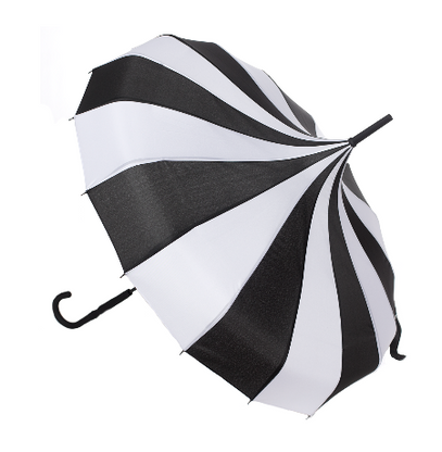 Sourpuss Stripe Pagoda Umbrella - Cobalt Heights