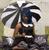 Sourpuss Stripe Pagoda Umbrella - In Action - Cobalt Heights