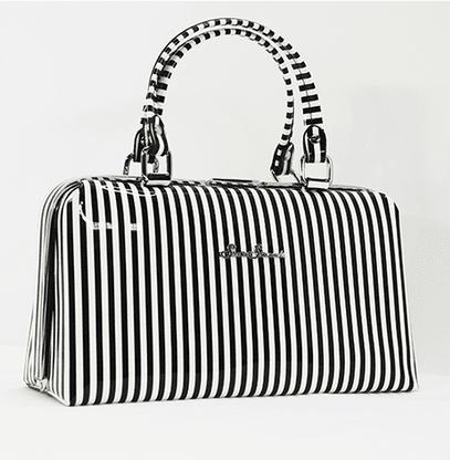 Starstruck Jetson Handbag - Black And White Stripe - Cobalt Heights