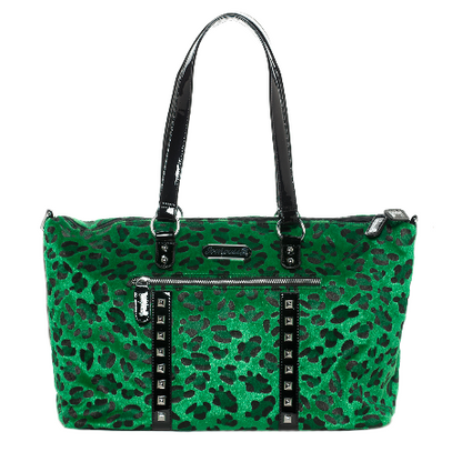Sourpuss Leopard Travel Bag - Green - Cobalt Heights