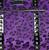 Sourpuss Leopard Travel Bag - Purple - Close Up - Cobalt Heights