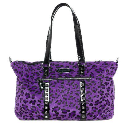 Sourpuss Leopard Travel Bag - Purple - Cobalt Heights
