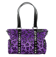 Sourpuss Leopard Mini Leda Purse - Purple - Cobalt Heights