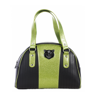 Sourpuss Jinx Tuck And Roll Handbag - Green - Cobalt Heights
