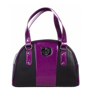 Sourpuss Jinx Tuck And Roll Handbag - Purple - Cobalt Heights