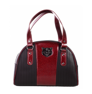 Sourpuss Jinx Tuck And Roll Handbag - Red - Cobalt Heights