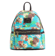 Loungefly X Disney Moana Floral Mini Backpack - Cobalt Heights