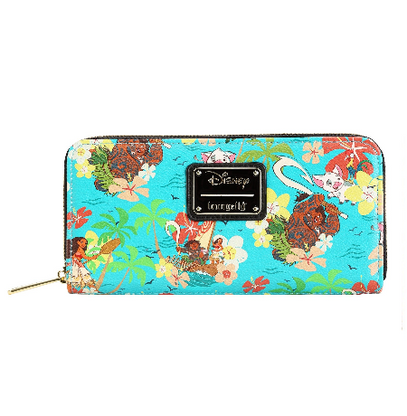 Loungefly X Disney Moana Floral Wallet - Cobalt Heights