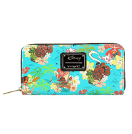 Loungefly X Disney Moana Floral Wallet - Cobalt Heights
