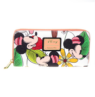 Loungefly X Disney Mickey and Minnie Floral Wallet - Cobalt Heights