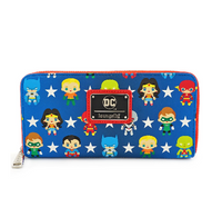 Loungefly X Justice League Chibi Characters Wallet - Cobalt Heights