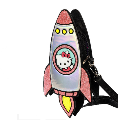 Loungefly X Hello Kitty Rocket Spaceship Handbag - Cobalt Heights