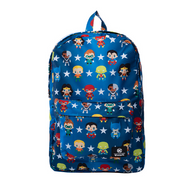Loungefly X Justice League Chibi Characters Backpack - Cobalt Heights