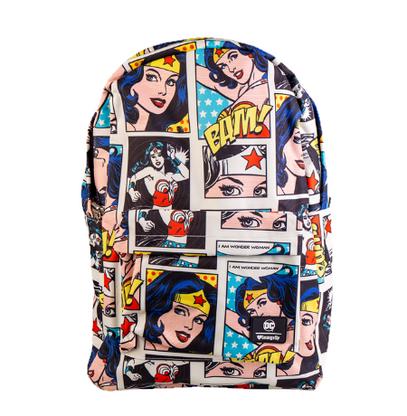 Loungefly X DC Wonder Woman Comic Strip Backpack - Cobalt Heights