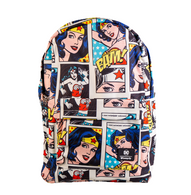 Loungefly X DC Wonder Woman Comic Strip Backpack - Cobalt Heights