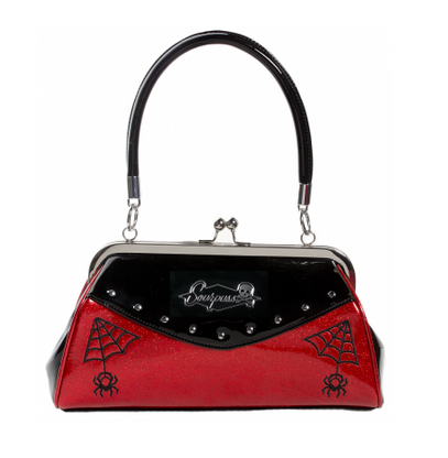 Sourpuss Webbed Widow Purse - Red - Cobalt Heights