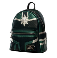 Loungefly X Marvel Captain Marvel Green Suit Cosplay Mini Backpack - Side - Cobalt Heights