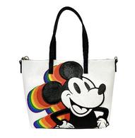 Loungefly X Disney Rainbow Mickey Tote Handbag - Cobalt Heights