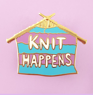 Jubly Umph Knit Happens Lapel Pin - Cobalt Heights