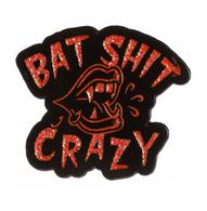 Sourpuss Bat Shit Crazy Enamel Pin - Cobalt Heights
