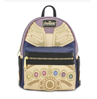 Loungefly X Marvel Thanos Infinity Gauntlet Mini Backpack - Front - Cobalt Heights