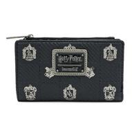 Loungefly X Harry Potter Hogwarts Crest Bifold Wallet - Cobalt Heights