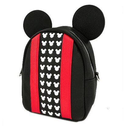 Loungefly X Disney Mickey Mouse Logo Convertible Mini Backpack - Cobalt Heights