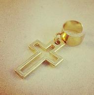 Gold Cross Ear Cuff