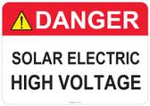 Danger Solar Electric, High Voltage - #53-313 thru 70-313