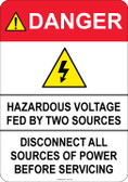 Danger Hazardous Voltage, #53-322 thru 70-322