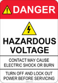 Danger Hazardous Voltage, #53-323 thru 70-323