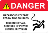 Danger Hazardous Voltage, Fed by two sources...#53-326 thru 70-326