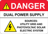Danger Dual Power Supply #53-329 thru 70-329