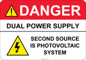 Danger Dual Power Supply #53-330 thru 70-330