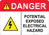 Danger Electrical Hazard #53-334 thru 70-334