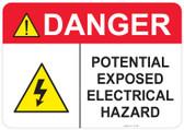 Danger Electrical Hazard #53-334 thru 70-334