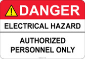 Danger Electrical Hazard #53-338 thru 70-338