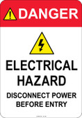Danger Electrical Hazard, #53-340 thru 70-340