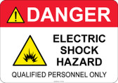 Danger Electric Shock Hazard #53-342 thru 70-342