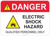 Danger Electric Shock Hazard #53-342 thru 70-342