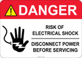 Danger Risk of Electrical Shock #53-345 thru 70-345
