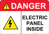 Danger Electric Panel Inside #53-346 thru 70-346