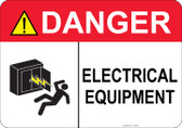 Danger Electrical Equipment #53-348 thru 70-348