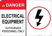 Danger Electrical Equipment #53-349 thru 70-349