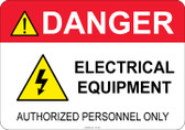 Danger Electrical Equipment #53-350 thru 70-350