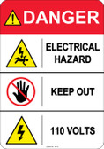 Danger Electrical Hazard, #53-411 thru 70-411